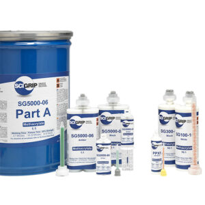 SG 100 - Bi-component methacrylate adhesive - Bright white nautical color