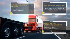 Mastikol Applicazioni adesivi per settore truck